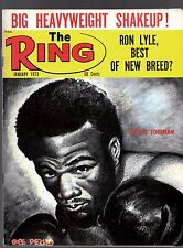 The Ring  Boxing Magazine January 1973 Frazier Forman Sharkey No Shipping Label