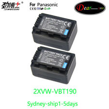 AU-ship 2x Battery for Panasonic VW-VBT190 VW-BC10 HC-VX870 HC-V550 HC-V750