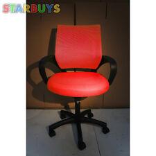 Office Chair Luxury Deluxe Ergonomic Mesh Rise Swivel Heavy Duty RED