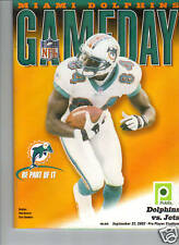 9/22/02 Dolphins Vs Jets Program - CHRIS CHAMBERS
