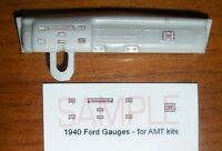 1940 FORD DELUXE COUPE, DELIVERY AND SEDAN GAUGE FACES for 1/25 scale AMT KITS
