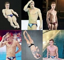 JACK LAUGHER UK Diver Six fantastic A4 sized Colour Photographs - Speedos - NEW