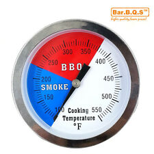 """BBQ 3"""" Charcoal Grill Pit Wood Smoker Temp Gauge Thermometer Large Smoker"""