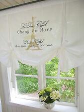 Raff Gardine LA TOUR Sand Rollo 160 Landhaus weiß Shabby Chic Vintage