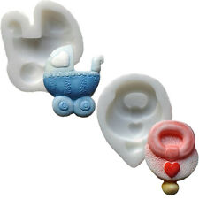 Silicone Moulds - Set Of Two - Pram & Dummy - Food Safe