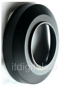 55mm Wide Angle Metal Lens Hood Sun Shade Screw-in Threads Anti-Glare Coating