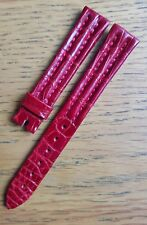 Breguet 15/12mm Red Crocodile Leather Strap - Never Used - GENUINE