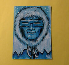 Capt. Cold Original Art Sketch Cards DC Comics The Flash Villain ACEO Painting