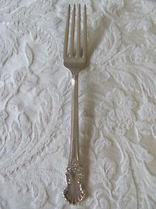 "4   National Silver  PRINCESS ROYAL  Silverplate  7 5//8/""  Dinner Forks  1930"