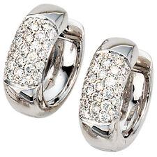 NEU Luxus Diamanten Creolen 585er 585 Gold Ohrringe Weißgold 14 Karat 0,60 ct.