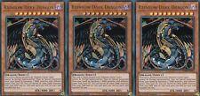 YUGIOH  3 X RAINBOW DARK DRAGON  - BLRR-EN054  ULTRA  RELENTLESS REVENGE