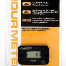 Hardline Hour Meter Digital Gauge Stick or Screw-On 1-8 Cylinders MX Motocross