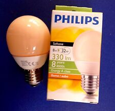 PHILIPS ENERGY Softone FLAME  Sparlampe in Tropfenform E27 8W