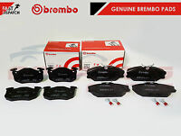 FOR RENAULT CLIO SPORT 172 182 FRONT REAR GENUINE BREMBO BRAKE PADS BRAND NEW