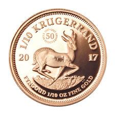 50 Jahre Jubiläums-Krügerrand 1/10 oz Gold PP Südafrika 2017 im Etui