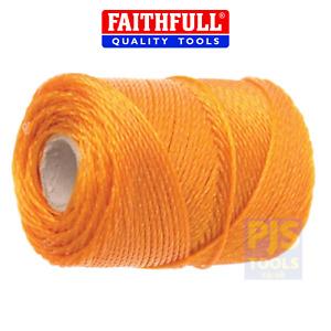 Faithfull FAI3250 250 metre 820 feet orange polyethylene heavy duty brick line