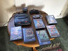 Vintage Sega Mega drive 16 bit and games