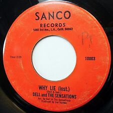 DELL and The SENSATIONS soul 45 on SANCO Tears on My Pillow b/w Why Lie H759