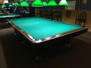 Vintage Brunswick Billiards 6 By 12 Gold Crown Snooker Table