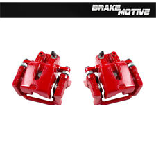 For CHRYSLER 300 DODGE CHALLENGER CHARGER MAGNUM Rear Red Brake Calipers Pair