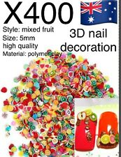 400+ 3D Nail Art Tips Gimp Decoration Flower Animal Fruit Slice Clay Stickers