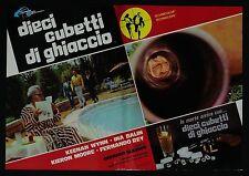 FOTOBUSTA 5, DIECI CUBETTI DI GHIACCIO Run Like a Thief GLASSER THRILLER POSTER