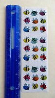 COLORFUL Strip of VINTAGE RETIRED Prism Mini Stickers LIMITED Sandylion BEES