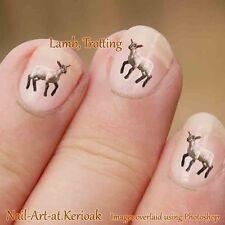 Lamb nail Art Stickers Decals Farm Animal Nailart, baby sheep, trotting