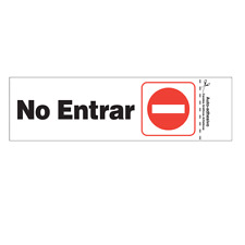 "Hillman #848812, 3"" x 9"" Plastic Self-Adhesive No Entrar (Do Not Enter) Sign ?"