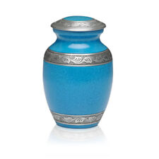 Turquoise Alloy Cremation Urn - MEDIUM- 2nd Quality - Free Shipping - A-1489-M-T