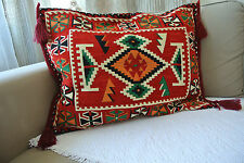 Kilim Patterned Thick Wool Pillowcases Ethnic Moroccan Tribal Rustic Decoration