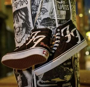 FOO FIGHTERS VANS SK8-HI 25TH ANNIVERSARY US SIZE 10.5 LIMITED EDITION Sold Out