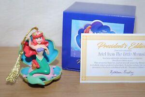 Grolier / Early Moments Disney Ariel Little Mermaid Porcelain Xmas Tree Ornament