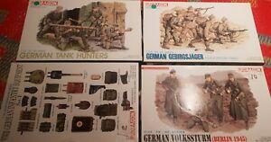 Lot Of 4 Dragon 1/35 WW2 German Kits.
