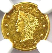 1870 Liberty Goofy California Gold Dollar G$1 BG-1205. NGC Uncirculated (UNC MS)
