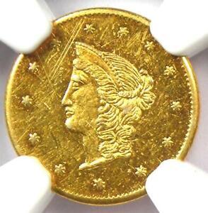 1870 Liberty Goofy California Gold Dollar G$1 BG-1205. NGC Uncirculated (UNC MS)