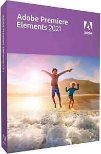 Adobe Premiere Elements 2021 - Windows 10 / Mac 64bit - Boxed - FULL RETAIL DVD