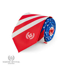 Handmade Masonic Necktie [The American Tie by Masonic Revival]
