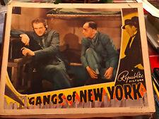Gangs Of New York 1938 Republic crime lobby card Charles Bickford