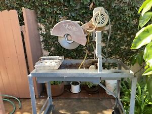 "Mk 14"" Brick Saw With Cart, Cuts 12""x 24""Tile Or Paver, Excellent working cond"