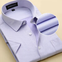 New Men's Business Casual Luxury Shirts Short Sleeves Formal Camisas MD109