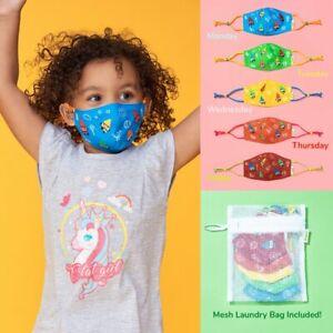 5PCS cute Crayon characters - Reusable Cloth Face Mask Set Kids Masks For Kids