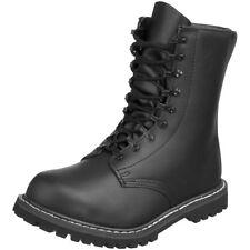 87de3a3e3ed543 Mil-Tec BW Style Leather Combat Bovver BOOTS Black 11