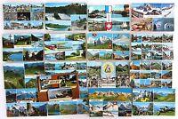Schweiz Postkarten Sammlung 16x Kleinformat Ansichtskarten mit Briefmarken >1958
