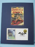 Detective Comics with DC Comic Book Hero Batman  & Batman stamp First Day Cover