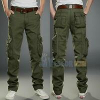 Fashion New Mens Casual Military Army Cargo Camo Combat Work Pants Trousers Pant