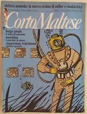 Corto Maltese Anno 6 n.12 - Pratt, Moebius CON INSERTO Superman Watchmen FU02