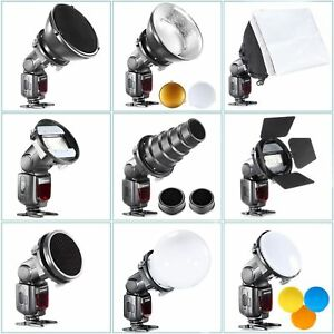 SGA-K9 Speedlite Flash Diffuser Accessories K9 Kit for Canon Nikon Yongnuo Godox