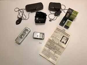 Minox Wetzlar Subminiature Model A Spy Camera #65450 & Light Meter Germany Cases