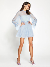 BNWOT ALICE MCCALL DOVE BLUE CRAFT MINI DRESS SAMPLE - SIZE 8 AU/4 US (RRP $395)